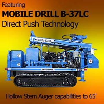 Mobile Drill direct push drilling